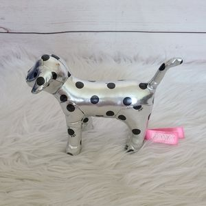 PINK Collectors Dog Black and Silver Metalic